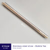 Stainless-steel straw for bubble tea